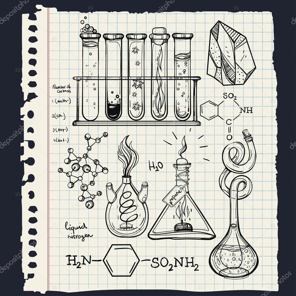 Science Lab Drawing At Getdrawings