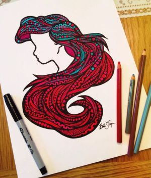 sharpie draw drawing drawings cool disney sharpies zentangle hair sea drawn hand things awesome board amazing hands doodles ariel bristol