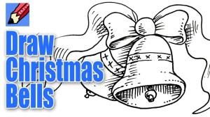 christmas easy drawing simple draw bells card pencil drawings cards tree santa getdrawings clipartmag claus