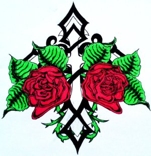 cross tattoo rose drawing simple drawings tribal tattoomagz designs clipartmag getdrawings clipartbest