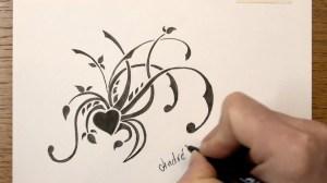 draw simple easy flower pencil floral tribal drawing markers drawings border flowers shading vines papet drawingartpedia sketch getdrawings