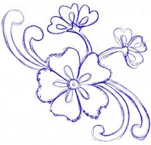 flowers simple drawing pencil drawings getdrawings