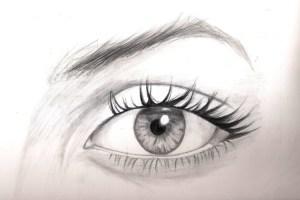 eye simple drawing sketches pencil getdrawings