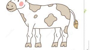 drawing simple farm cow getdrawings