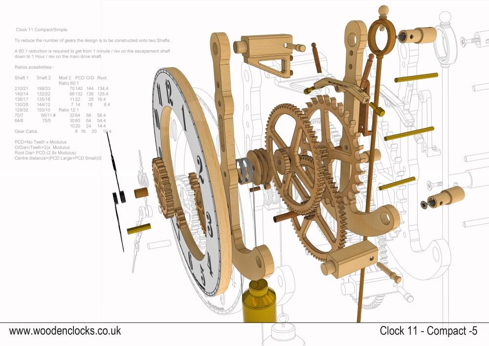 medium resolution of 3200x2263 clock compact simple style