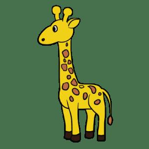 giraffe drawing simple easy draw drawings step super girafe getdrawings