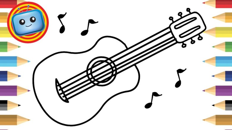 simple guitar drawing at getdrawings | free for personal use