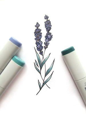 lavender drawing tattoo simple flower tattoos drawings outline flowers purple easy heart draw symbol sketch sketches getdrawings wildflower funzonehere gq