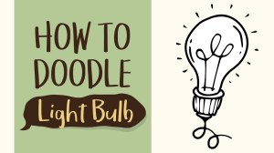bulb drawing simple easy draw step idea doodle coloring getdrawings tutorial