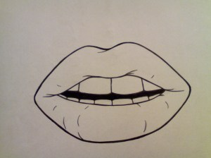 lips drawing simple drawings easy mouth vector sketches realistic pencil sketching getdrawings discover mermaid