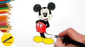 mickey mouse drawing draw easy step cartoon simple cool things drawings getdrawings lessons computer way paintingvalley