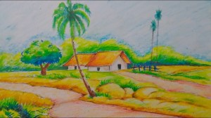 nature drawing scenery village painting simple natural sketch easy draw sceneries sketches scene getdrawings paintingvalley adult views pencil tutorial realistic