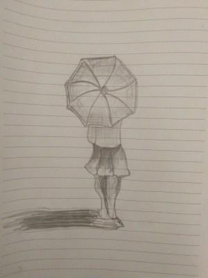 drawing pencil easy simple umbrella drawings sketch arts heart getdrawings paintingvalley curvy