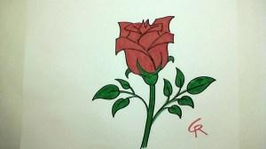 rose flower drawing easy simple draw pretty learn getdrawings bloom