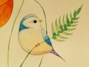 bird easy sketching birds drawing watercolor painting simple drawings paintings sparrow sketches getdrawings paintingvalley copy