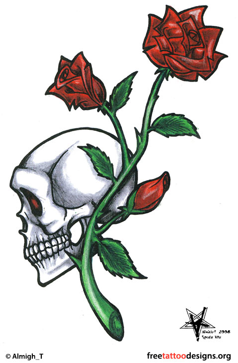 Skulls And Roses Drawings Easy
