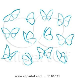 simple butterflies butterfly drawing clipart illustration royalty vector illustrations rf easy drawings creative seamartini clipartof graphics tradition sm tattoo sketch