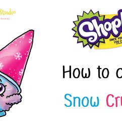 1280x800 how to draw shopkins season 1 snow crush very easy [ 1280 x 800 Pixel ]