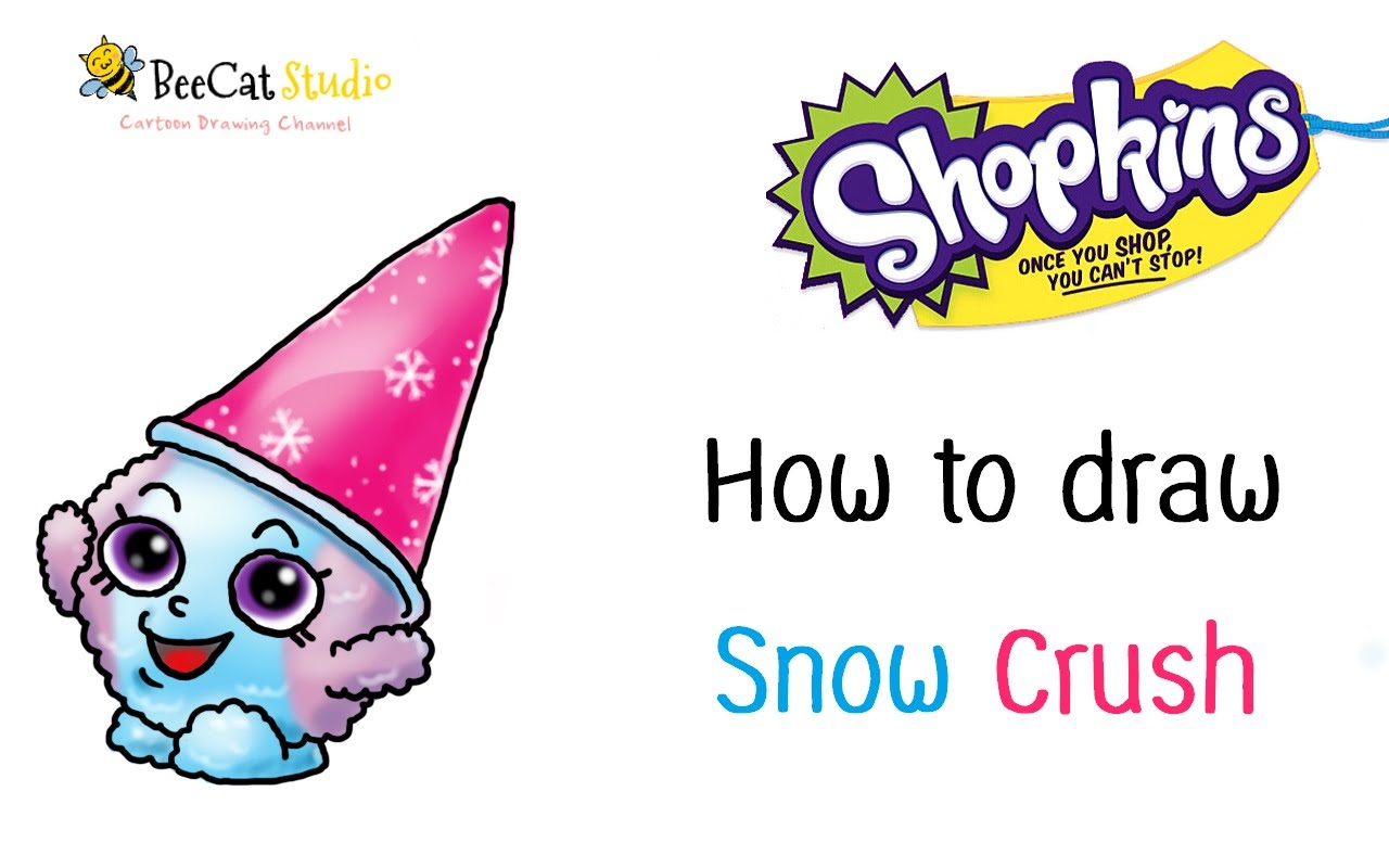 hight resolution of 1280x800 how to draw shopkins season 1 snow crush very easy