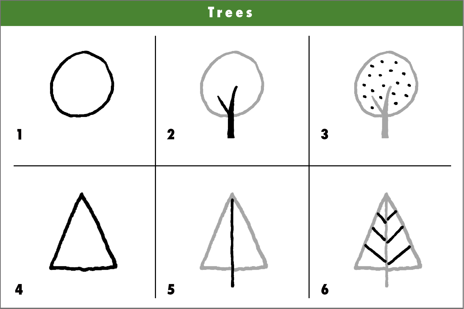 Step By Step Tree Drawing At Getdrawings