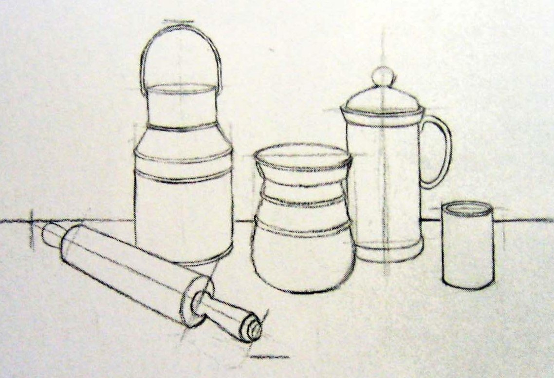 Still Life Easy Drawing At Getdrawings