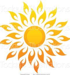 1024x1044 sun art vector clipart of a bright summer sun with petal rays 1 [ 1024 x 1044 Pixel ]
