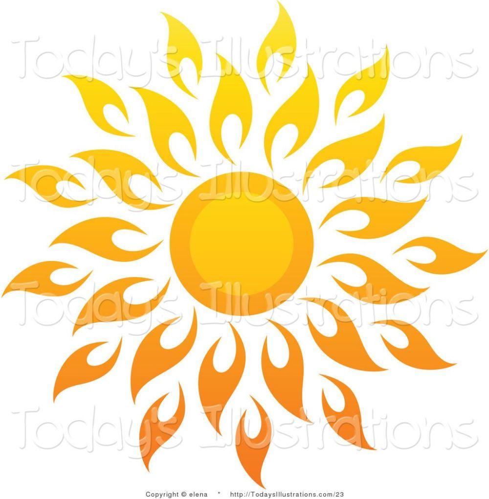 medium resolution of 1024x1044 sun art vector clipart of a bright summer sun with petal rays 1