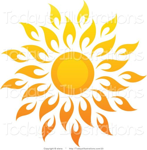 small resolution of 1024x1044 sun art vector clipart of a bright summer sun with petal rays 1