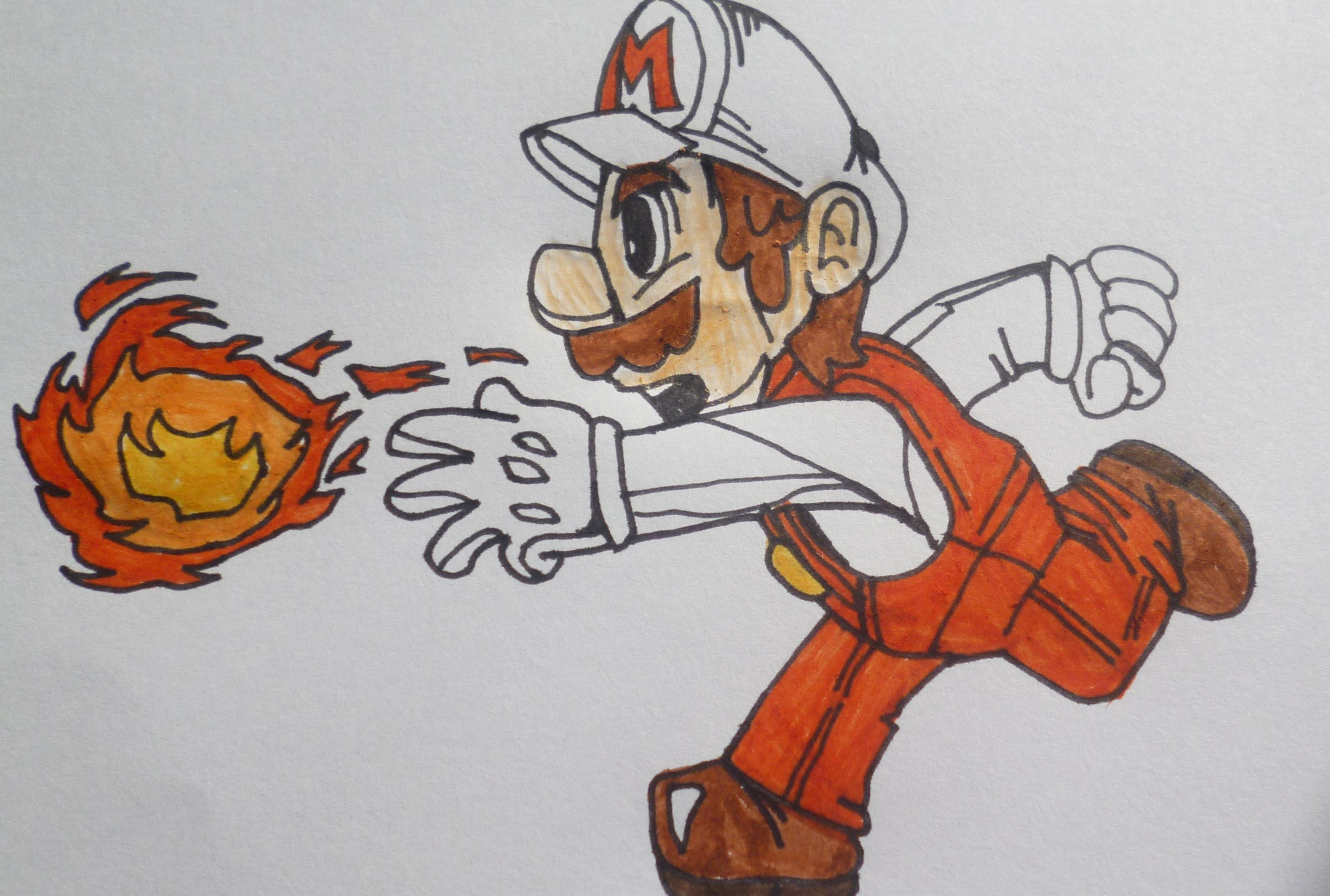 Mario Fire Flower Drawing