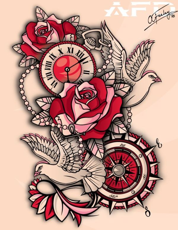 tattoo drawing design paper