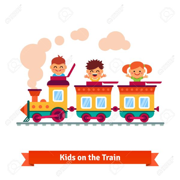 Cartoon Train with Kids