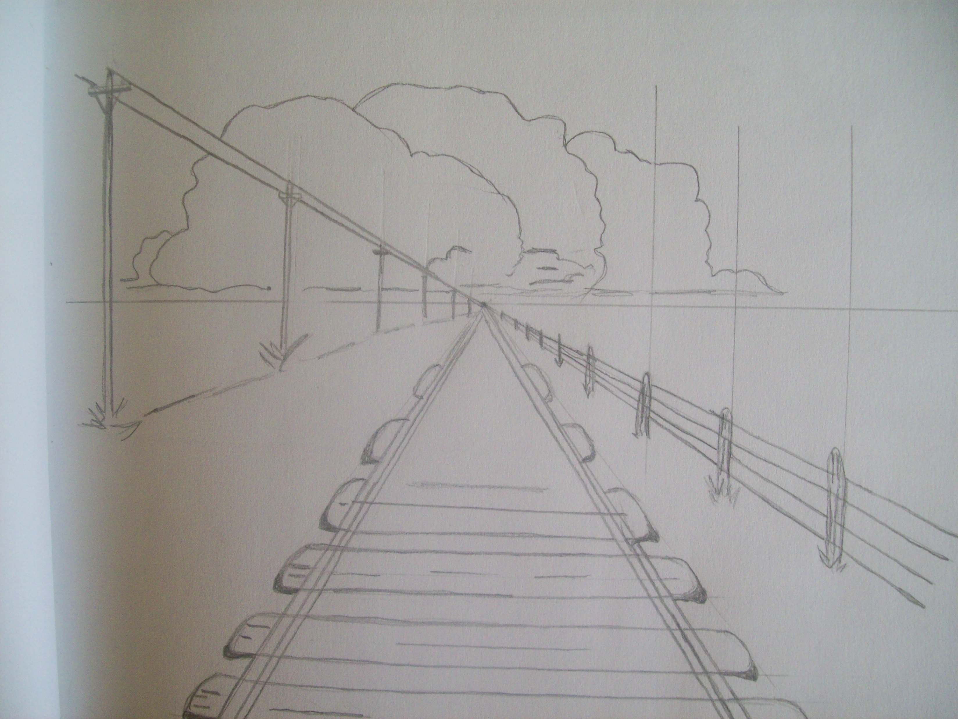 Train Perspective Drawing At Getdrawings