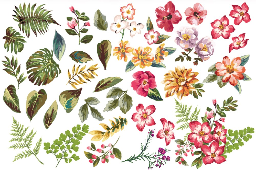 medium resolution of 1208x804 seamless tropical flowers vol 3 tropical pattern illustrators