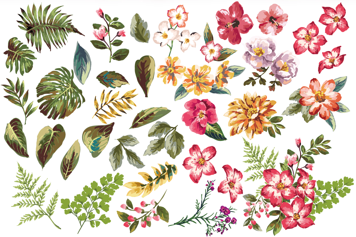 hight resolution of 1208x804 seamless tropical flowers vol 3 tropical pattern illustrators