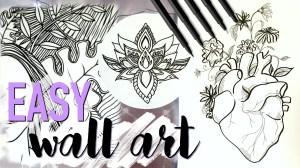 easy drawing wall diy decor designs flower draw drawings inspired simple sketch rose tutorial doodle mandala getdrawings yin yang awesome