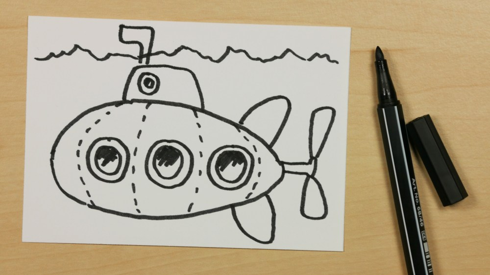 medium resolution of 3840x2160 how to draw a submarine or u boat