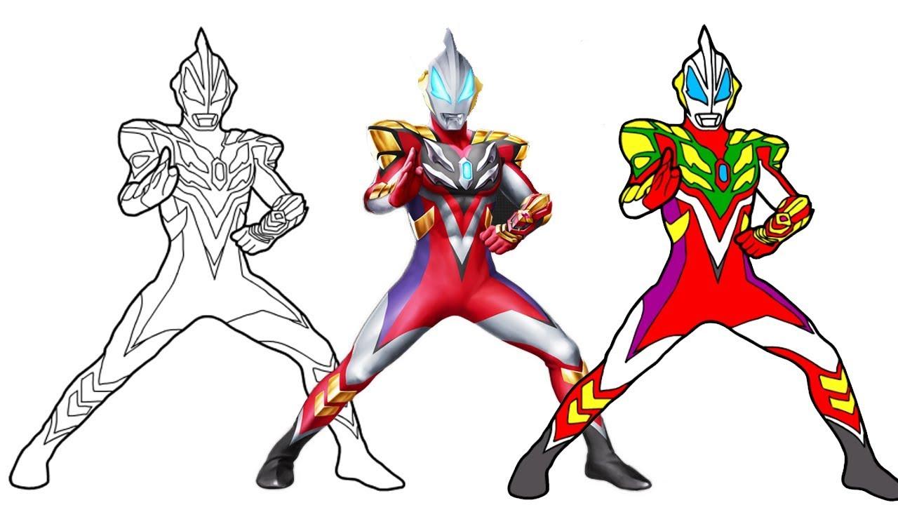 Gambar Mewarnai Ultraman Taro - GAMBAR MEWARNAI HD