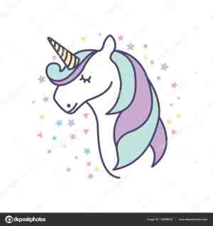 unicorn drawing simple icon illustration easy draw unicorns drawings vector getdrawings