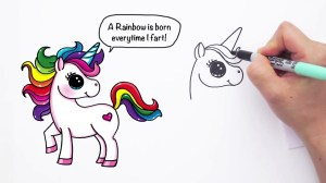 unicorn draw easy cartoon farting drawings drawing step unicorns cartoons realistic hildurko getdrawings doodle pencil amazing