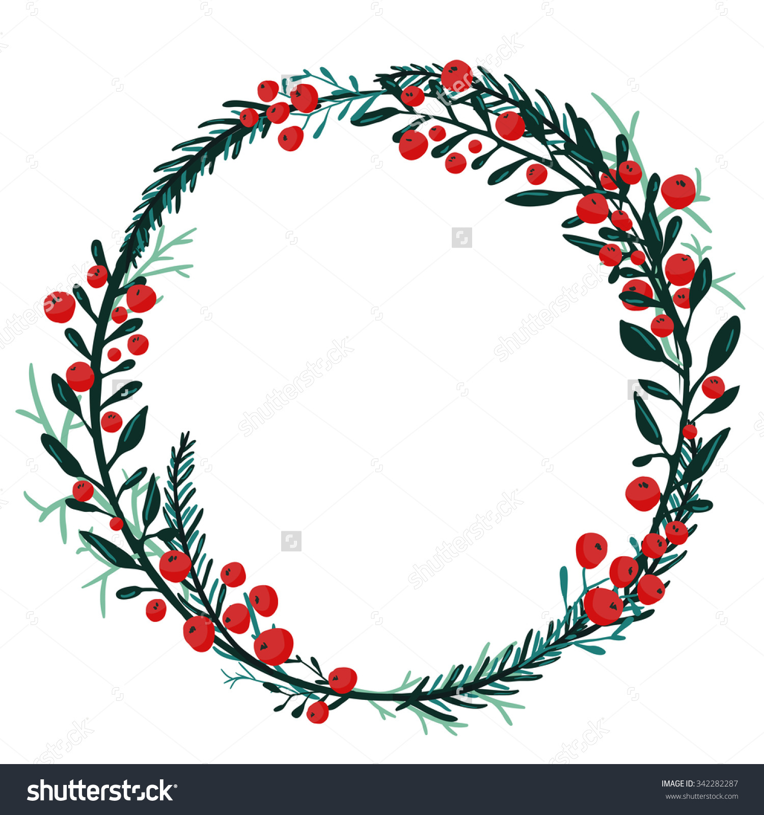 Wreath Drawing At Getdrawings