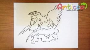 zeus draw step drawing easy cartoon greek god drawings poseidon hera getdrawings statue gods paintingvalley king