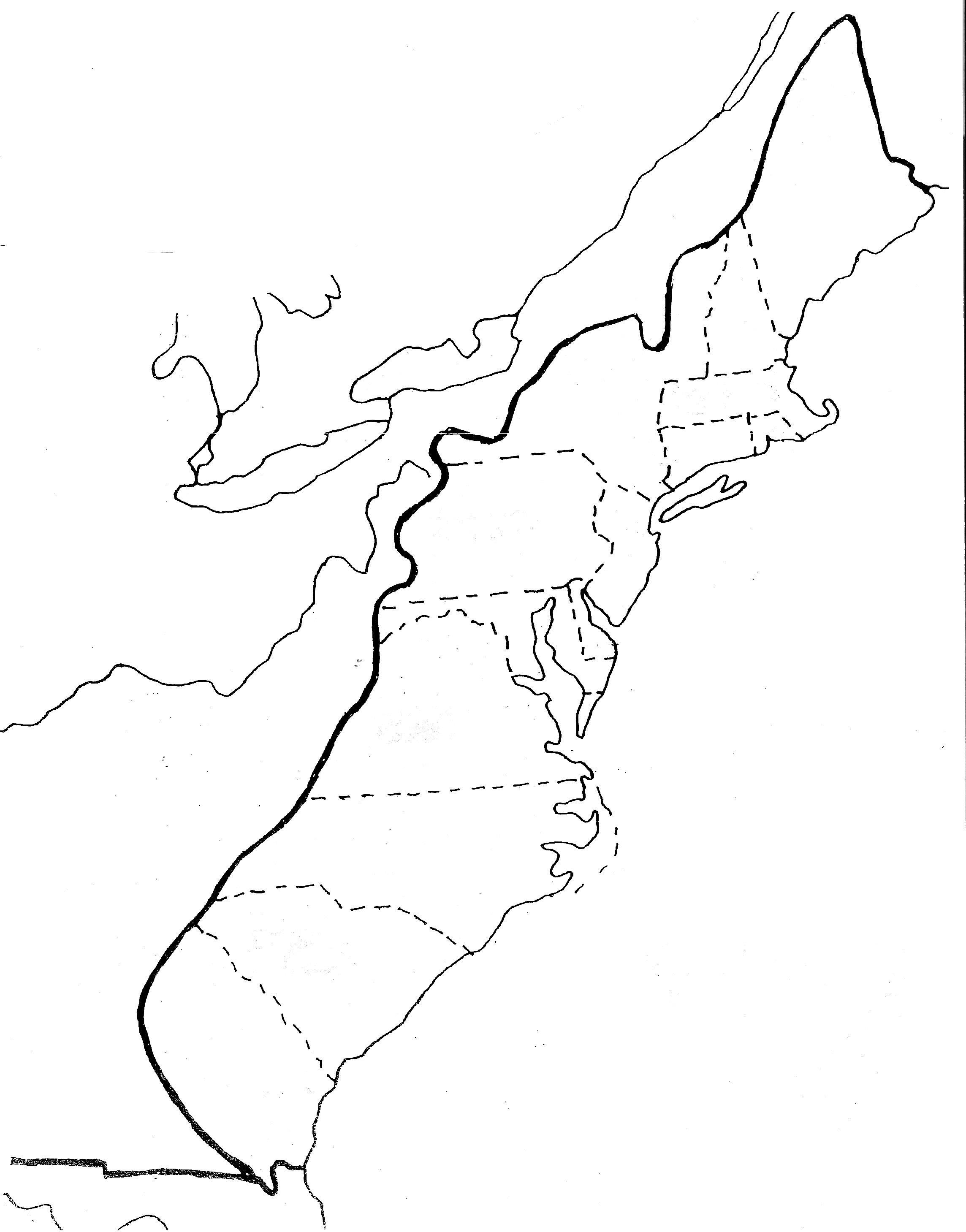 Original 13 Colonies Map Quiz
