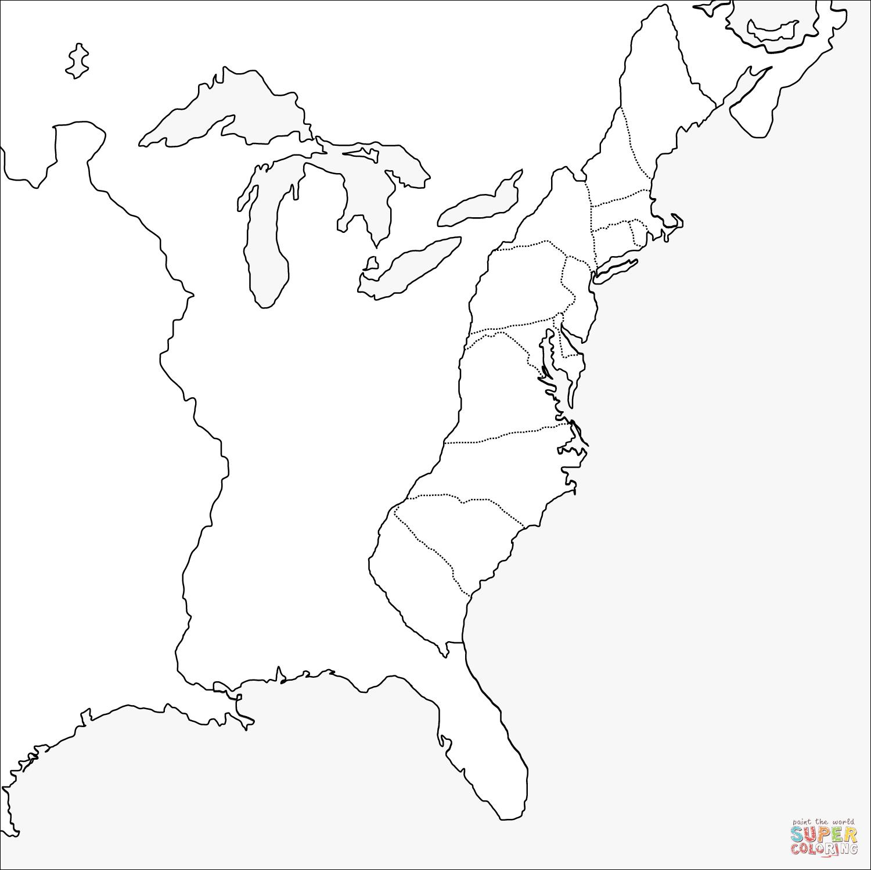 13 Colonies Drawing At Getdrawings