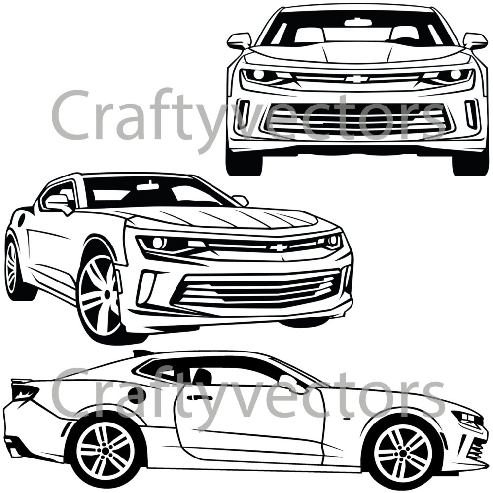 medium resolution of 1500x1500 chevrolet camaro 2016 vector svg cut file