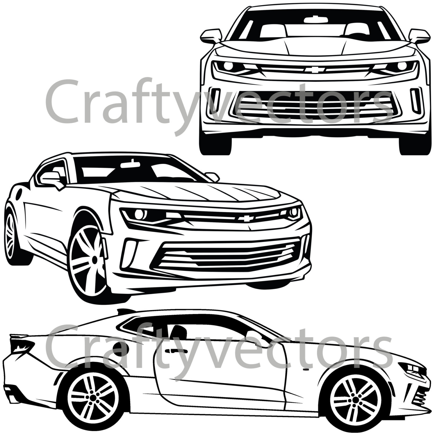 hight resolution of 1500x1500 chevrolet camaro 2016 vector svg cut file