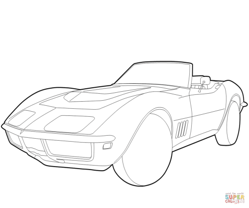 small resolution of 1236x1032 chevrolet corvette coloring page free printable coloring pages