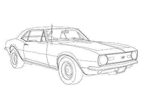 1969 Camaro Z28 Coloring Page