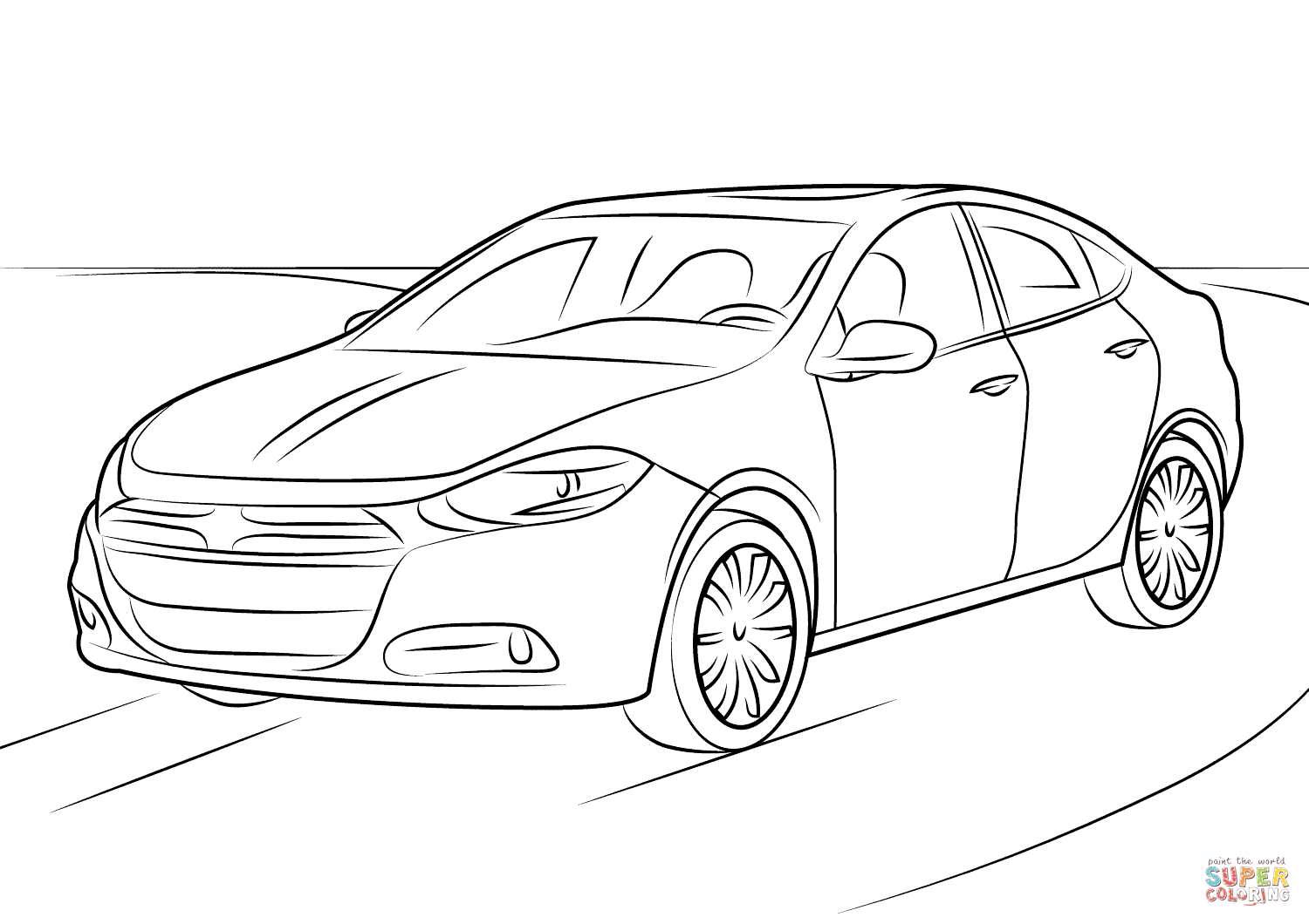 1500x1060 2016 dodge dart coloring page free printable coloring pages
