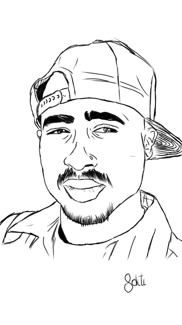 Tupac Drawing Easy : tupac, drawing, Drawing, GetDrawings, Download