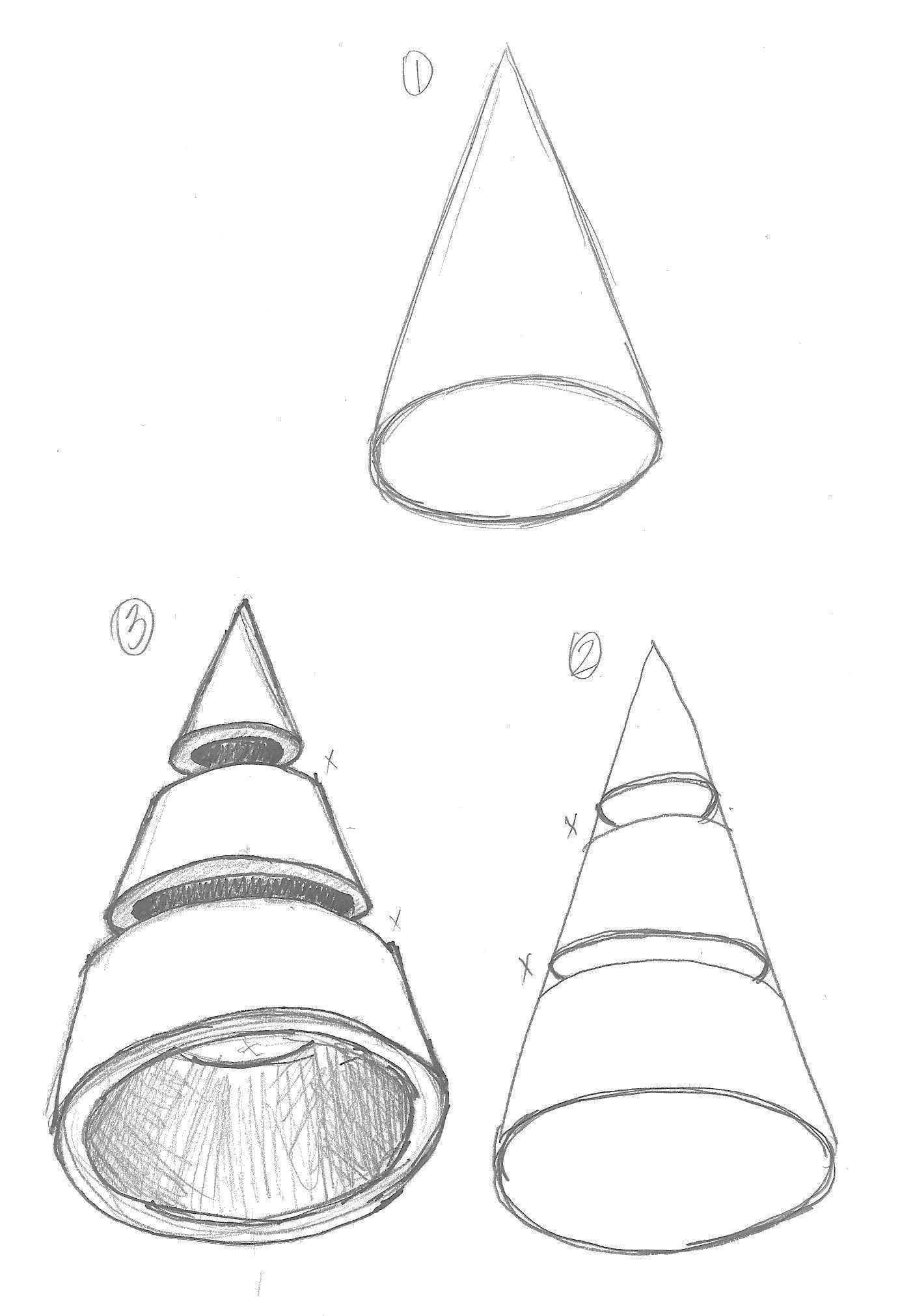 3d Cone Drawing At Getdrawings